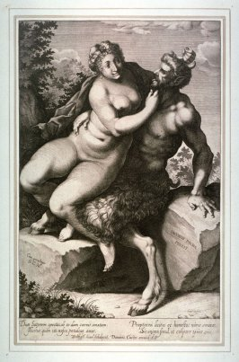 Satyr with woman
