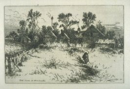 Old House at Stroudwater, ME, plate 12 in the book, Choice Etchings (London: Alexander Strahan, 1887)