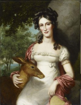 Miss Virginia Polk with Deer