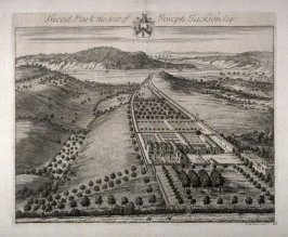 Sneed Park, the Seat of Joseph Jackson Esquire, illustration from the second volume of the series 'Britannia Illustrata'