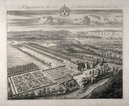 Kingweston, the Seat of Edward Southwell Esquire, illustration to the second volume of the series 'Britannia Illustrata'