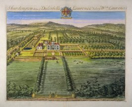 Shurdington, the Seat of Dulcibella Laurence, Relict of William Laurence, illustration from the second volume of the series 'Britannia Illustrata'
