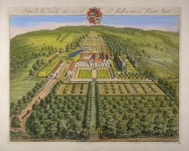 Hullal's Hill, the Seat of Sir Edward Fust, Bartt, illustration to the second volume of the series 'Britannia Illustrata'