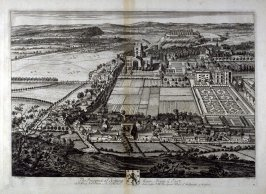 Plate 75: The Prospect of Nottingham, From ye East, illustration to the series 'Britannia Illustrata'
