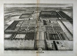 Plate 64: Acklam in Cleveland in the County of Yorke the Seat of the Honble Sr Wm Hustler Kt, illustration from the series 'Britannia Illustrata'