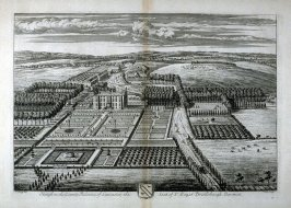 Plate 55: Haigh in the Palatine County of Lancaster, the Seat of Sir Roger Bradshaigh Baronett, illustration to the series 'Britannia Illustrata'