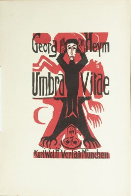 frontispiece for the book Umbra Vitae: Nachgelassene Gedichte by Georg Heym (Munich: Kurt Wolff, 1924).