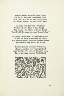 Untitled, pg. 29, in the book Umbra Vitae: Nachgelassene Gedichte by Georg Heym (Munich: Kurt Wolff, 1924).