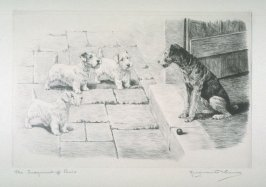 The Judgment of Paris (3 terriers judged by Airdale)