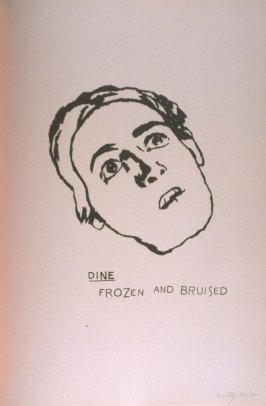 """Dine / Frozen and Bruised,"" in the book A Day Book by Robert Creeley (Berlin: Graphis, 1972)"