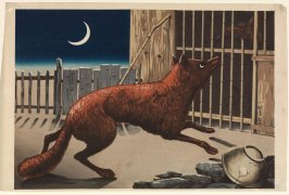 Fox and Crescent Moon