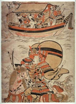 Atsumori on Horseback in the Battle of Ichinotani