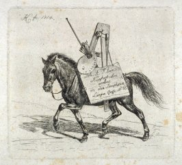 Horse with Easel and Palette