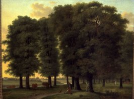 Park Landscape with Figures and Cattle