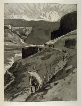 Durch Gebirge, plate 19 in the book, Zelt (Berlin: Amsler & Ruthardt, [1923])