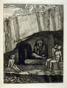 Die Höhle, plate 37 in the book, Zelt (Berlin: Amsler & Ruthardt, [1923])