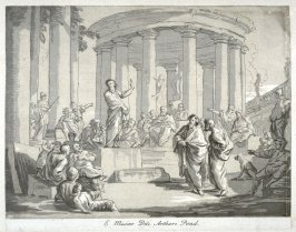 St. Paul Preaching at Athens, from the series 'Prints in Imitation of Drawings'