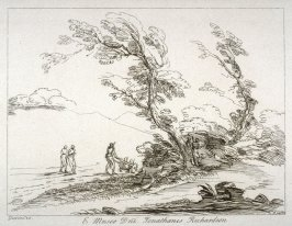 Figures in a landscape, from the series 'Prints in Imitation of Drawings'
