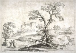 Landscape with tree in the foreground, from the series 'Prints in Imitation of Drawings'