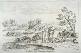 River bank with three female figures, from the series 'Prints in Imitation of Drawings'