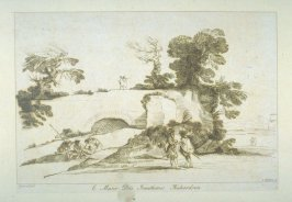 [landscape with ruined old building in left foreground], from the series 'Prints in Imitation of Drawings'