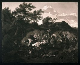 Attack of an outpost by cavalry