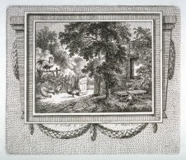 [Garden scene with chickens]