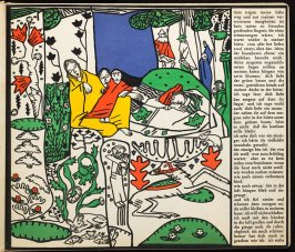 Untitled in the book Die Träumenden Knaben (The Dreaming Boys) by Oskar Kokoschka (Leipzig: Kurt Wolff Verlag, 1917)