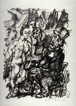 Hiob und die Fräuleins, seventh plate in the portfolio accompanying the book Hiob, ein Drama von Oskar Kokoschka(Berlin: Paul Cassirer, 1917)