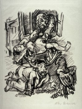 Hiob mit Geweih, eleventh plate in the portfolio accompanying the book Hiob, ein Drama von Oskar Kokoschka(Berlin: Paul Cassirer, 1917)