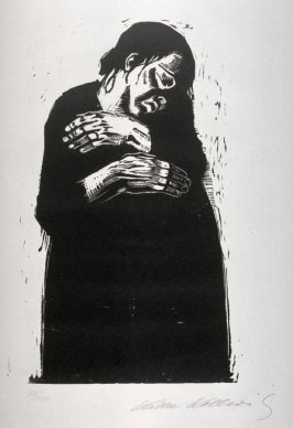 Die Witwe I (The Widow I), fourth plate in the series Krieg (War)