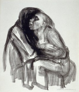 Tod hält Mädchen im Schoss (Death Holds Girl in his Lap), second of eight from the series Tod (Death)