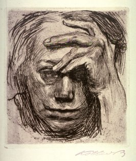 Selbstbildnis mit der Hand an der Stirn (Self-Portrait with Hand on the Forehead)
