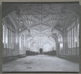 Diviinity School Bodleian Library, tenth image in the book Two Oxford Reading Rooms by Joseph Kosuth (London: Book Works, 1994)