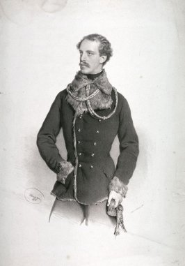 Portrait of Victorin Fuerst zu Windisch-Graetz, wearing the fur-lined coat as Colonel of the Ulans (1824-1869)