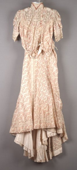 Two part afternoon dress: bodice and skirt
