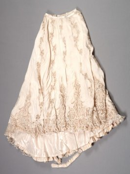 Skirt from woman's evening dress