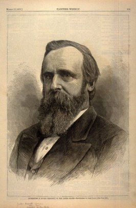Portrait of Rutherford B. Hayes - President of the United States - p.209 Harper's Weekly 17 March 1877