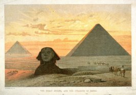 The Great Sphinx, and the Pyramid of Gizeh