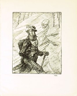 Der Stromer , plate 4 in the book Ein Totentanz von Afred Kubin. 2nd ed.( Berlin: Bruno Cassirer, [1925])