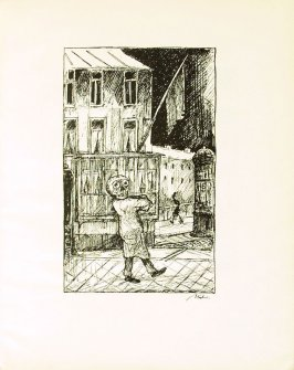 Zur Gespenstersonate von A. Strindberg , plate 5 in the book Ein Totentanz von Afred Kubin. 2nd ed.( Berlin: Bruno Cassirer, [1925])