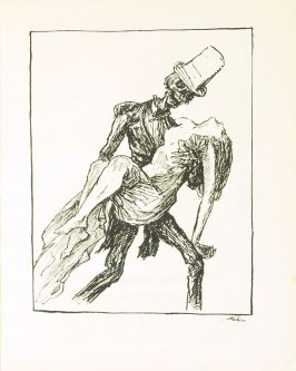 Das Ballgespenst , plate 13 in the book Ein Totentanz von Afred Kubin. 2nd ed.( Berlin: Bruno Cassirer, [1925])