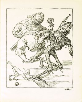 Der Hofnarr , plate 15 in the book Ein Totentanz von Afred Kubin. 2nd ed.( Berlin: Bruno Cassirer, [1925])