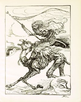 Der Reiter , plate 17 in the book Ein Totentanz von Afred Kubin. 2nd ed.( Berlin: Bruno Cassirer, [1925])
