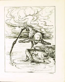 Die Schiffer , plate 21 in the book Ein Totentanz von Afred Kubin. 2nd ed.( Berlin: Bruno Cassirer, [1925])