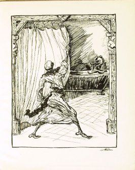Der letzte Ritter , plate 23 in the book Ein Totentanz von Afred Kubin. 2nd ed.( Berlin: Bruno Cassirer, [1925])
