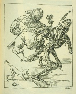 [Der Hofnarr], fifthteenth plate in the book Ein Totentanz (Berlin: Bruno Cassirer, 1918)
