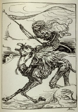 [Der Reiter], seventeenth plate in the book Ein Totentanz (Berlin: Bruno Cassirer, 1918)