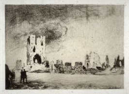 Cloth Hall of Ypres, Belguim - #16 in the portfolio Pages of Glory and History, the 91st Division in Argonne and Flanders (Paris, New York, San Francisco: City of Paris, 1920)
