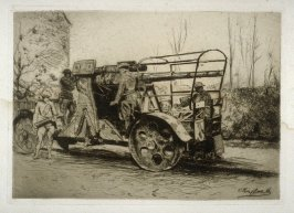 German Anti-aircraft Piece Captured by French - #25 in the portfolio Pages of Glory and History, the 91st Division in Argonne and Flanders (Paris, New York, San Francisco: City of Paris, 1920)
